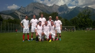 Der Freizeitclub Bad Ragaz am Grümpelturnier in Bad Ragaz 2015.
